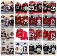 2021 عكس الرجعية شيكاغو Blackhawks 29 Marc-Andre Fleury Hockey Jerseys 77 Kirby Dach 19 Jonathan Twews 88 Patrick Kane Alex Debrincat 4 Seth Jones Jersey مخيط