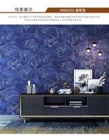 Nórdico Minimalista Minimalista Chino Xiangyun Wallpaper Dormitorio Sala de estar TV Fondo de pared Bronceado Fondo de pantalla Nuevo estilo chino Q0723