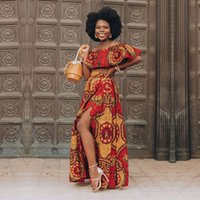 S стиль африканская одежда Дашики печатающие вершины юбки моды перо вечеринки платья для женщин халат