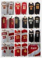2021 mens lançamento jersey spud 4 webb 21 trade 11 jovens de'andre 12 caçador basquete shorts jerseys preto vermelho