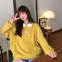 Women's Hoodies & Sweatshirts Turn-down Collar Cute Dog Print Oversize Women Kawaii Clothing Autumn Harajuku Sweat Capuche FemmeTracksuit