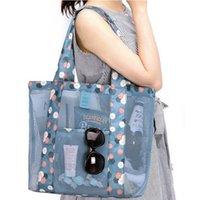 1 unids Bolsas de almacenamiento de viajes al aire libre Mujeres Ladies Beach Bag Bolsa de hombro multifuncional Capacidad grande Casa Ropa Bolso