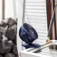 Electric Fans TOD-1200MAh Portable Cooling Mini USB Fan 3 Speeds 360 Degree All-Round Rotation Rechargeable Air Charging Desktop C
