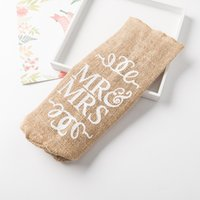 New MR & MRS Jute Wine Bottle Cover Gift Bag Rustic Wedding Decoration Anniversary Party Decoration Wine CCF7015