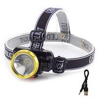 Аккумуляторная светодиодная фар фонарик фар маленькая головная лампа факел факел Linterna Frontal для рыбалки кемпинг, охота на велосипедную охоту