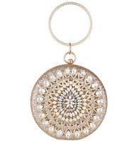 Borsa da sera Round Delle Donne Borsa da sera Gorgeous Pearl Crystal Beaking Bridal Wedding Borse Borse a croce borse a croce