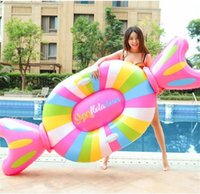 New Style Giant Candy Pool Floating Row Summer Outdoor Overwater Inflation Swim Ring Kinder Erwachsene PVC Umweltfreundliche Wasser Spielzeug 70xy y