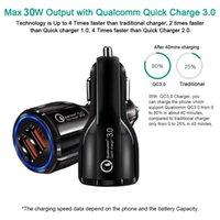 QC3.0 자동차 충전기 듀얼 USB 포트 고속 빠른 충전 3.1A 어댑터 11 12 Pro-Samsung HTC 휴대 전화 충전기