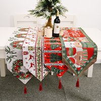 Colored knitted tablecloth Christmas Decorations for tables tassels table cloth desktop decration with macrame