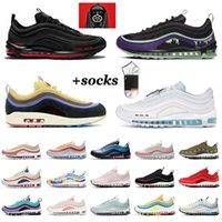 أحذية Nike Air Max Airmax 97 احذية رجالية Satan MSCHF x INRI Jesus Sean Wotherspoon Off White الرجال النساء المدربين في الهواء الطلق الركض المشي