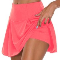 Women's Running Shorts Yoga Shorts Yoga Skirt 2 in 1 Seamless Bottoms Quick Dry Lightweight Solid Color Yoga Fitness Gym Workout Summer Plus Size Sports Activewear