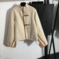 Creative Elegant Women Coats Fashion Chaqueta de doble lado de la moda Personalidad al aire libre Charm Girl Brand Wool Mezclas