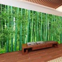 Wallpapers Custom 3D Wallpaper Green Bamboo Forest Landscape Po Wall Murals Living Room Bedroom Background Decor Papel De Parede