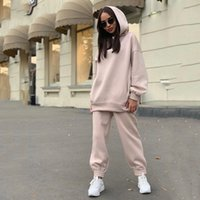 Two Piece Casual Fleece Tracksuit Women' s Sets Oversize...