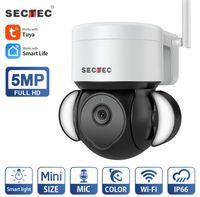 Telecamera Secicec Tuya WiFi 3MP 5MP Patio Outdoor CCTV Surveillance Surveillance Protezione camma impermeabile IP wireless IP Telecamere