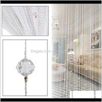 Crystal Beads Tassel Silk Curtain Home Window Room Door Divider Panel Sheer Curtains Romantic Wedding Decor Colorful String Gtoej Rwpsy