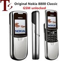 Nokia neuf Nokia 8800 Téléphones portables mobiles 2G GSM Tri-Band débloqué Classic Clavier Russe Arabe 3 Couleurs