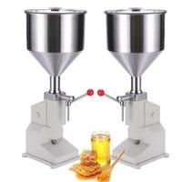 1pc Manual Filling Machine Vertical 5-50ml Quantitative Juice Filler Nail Polish Honey Liquid Paste Packaging Equipment