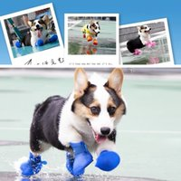 Pet Dog Rainshoes Waterproof Silicone Dog Shoes Anti-skid Boots Rainy Days Appear Pet Supplies