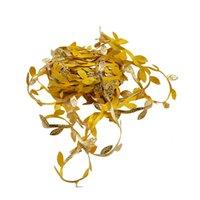 20 Meter Silk Leaf-Shaped Handmake Artificial Green Leaves for Wedding Decoration DIY Wreath Gift Scrapbooking Craft Fake Flower 10pcs