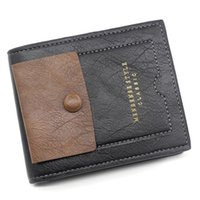 Деньги короткие знаменитые модные сумки # 11 цветных солидных кошелька Walltes мужской кошелек кожаный старинный бизнес мягкий мультисторонний кошелек монета мешок GIMU