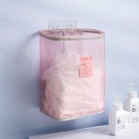 Laundry Bags Wall-Mounted Folding Basket Shelf Organization Dirty Clothes Baskets Bathroom Storage Organizer Household Accessories