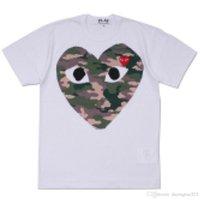 NEGRO COM NUEVO G 1 CDG Holiday Heart Play Camiseta Nuevo Límite de corazones rojos grandes Limite la expresión Camisa de vestir de parejas de amor