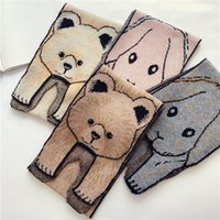 Dibujos animados de tejer bufanda oso conejo otoño invierno bufandas muchachas niños niños cuello suave moda lindo animales 17dm n2