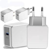 빠른 적응식 벽 충전기 QC 3.0 5V 2.4A 9V 1.8A 12V 1.5A EU US Samsung S8 S10 HTC 안드로이드 폰용 US UK 플러그 어댑터