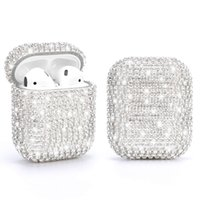 BlingBling Diamond Hard Protection Case Earphone Set Box for AirPods Pro 1 2 Air Pods Protective Wireless Cover Shell Outdoor