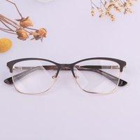 Óculos Mulheres Design Para Prescrição Eyeglasses Tamanho Big Size Myopia Man Points Vintage Rim RIM Dupla Cores Vermelho Moda Óculos de sol FR