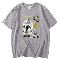 Kısa Kollu Erkek T Shirt Boy S-XXXL T-Shirt Haikyuu Bokuto Japonya Karikatür Baskı Giyim Crewneck Moda T-shirt Erkekler Y0526