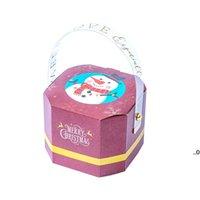 Enroulez-vous Portable Paper Box Santa Claus Candy Boxes Christmas Cadeau Cadeau Cadeau Décoration Créativité Sac fourre-tout Exquisite Stylisme FWD9319