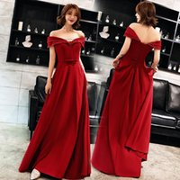 Ethnic Clothing Elegant Slash Neck Bride Wedding Dress Slim Long Evening Party Temperament Celebrity Banquet Prom XS-3XL