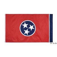 100% Polyester 90 * 150 cm 3x5 FTS Doğu Amerika Birleşik Devletleri Tennessee Bayrağı Dekorasyon için GWE5583