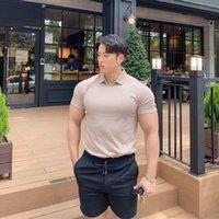 Мужские футболки повседневные моды футболка мужские спортивные залы Фитнес с коротким рукавом футболка мужской бодибилдинг тренировки тройники летние топы одежда