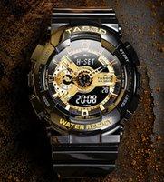 BRW Marka 110 Stil erkek G Kol Saati Spor Çift Ekran GMT Dijital LED Reloj Hombre Erkekler Için Askeri İzle Relogio Masculino Erkek Dropship