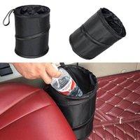 Hooks & Rails Large Collapsible Rubbish Waste Hanging Car Bin Trash Litter Bag Can Foldable Leather Leak Proof Waterproof Dust