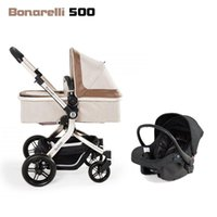 Strollers# Bonarelli 500 Baby Cars Stroller Mat Cart 3 In 1 Carrycot With Carriage Cover