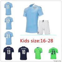 New 20 21 Lazio Home Soccer Jersey 120th Inniversary 2020 2021 Away Third Maglie Immobile Luis Bastos Football Adulas Men + Kids Kit Shirts