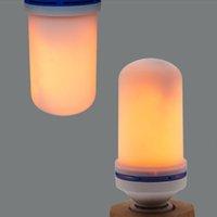 LED-Flammeneffekt Glühlampe 4 Modi Lampen E14 E12 E27 E26 Basisfeuer mit Schwerkraftsensor Valentinstag-Dekorationen flackern für Innen- und Outdoor Crestech168