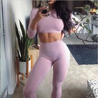 Women Fitness Yoga Sets Quick dry Workout Gym Clothes Running Clothing Long Sleeve Sports Crop Top Mesh Leggings Suit Sportswearsoccer jerse
