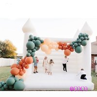 Newest Outdoor Inflatable Wedding Bouncer White Bounce House Jumper bouncy castle for birthday party