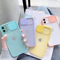 Kamera-Linsenschutz Telefon-Fälle auf für iPhone 11 12 PRO max 8 7 6 6S plus XR XSMAX X XS SE2020 12Color Candy Soft Back Cover