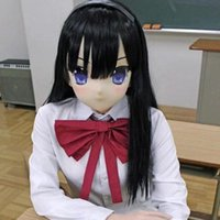 Máscaras de fiesta (KMA02) Calidad superior Hecho a mano Resina Cosplay Play Japonés Play Crossdresser Doll Transgender Kigurumi Mask Hecho en Japón