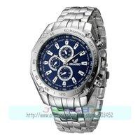 Relojes de pulsera 100pcs / lote 7083 Marca Silver Acero inoxidable Reloj de pulsera de cuarzo de metal, vestido de vendedor loco al por mayor reloj