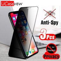 Anti spy tempered glass Front for iphone x 12 11 pro max xr xs 8 7 plus mini privacy film Full Body screen protector Anti-glare protection