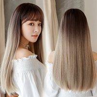 Nouvelles femmes perruques de la mode coréenne Cheveux réalistes longue perruque droite JIAFA Perruques synthétiques en stock Vente en gros