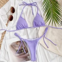 Women's Swimwear Tankini Swimsuits Ladies Micro Blue Bathing Suit Bikini Brazilian Set Bandage Purple Low Waist Mini Women Two Pieces