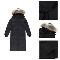 quality down jacket women's winter designer big fur collar thick hooded warm Wind proof casual classic parker parka